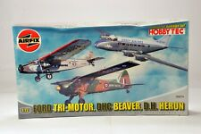 New Airfix 08647 Ford Tri-Motor, DHC Beaver, DH Heron - Ltd Edition 3 Model Set
