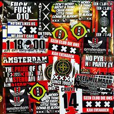 100 x Ajax Amsterdam Stickers Kleber geïnspireerd door Vlagg Ultra Fans Cruyff