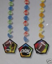 Football Dangle Decoration, Sports Birthday Party Supply Super Bowl Tailgating