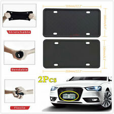 2x American Cars License Plate Holder Bumper Mount Bracket Frame Silicone Rubber