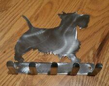 Scottish Terrier keys rack scotty dog holder scarf hooks metal decoration art