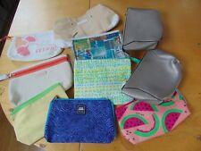 CLINIQUE ,CLARINS   Makeup Bags Cosmetic  Bulk LOT -10 PCS- GREAT VALUE (A)