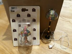Dolls house electric lights. Table lamp and floor standard lamp.