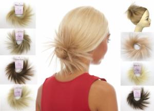 "SPIKY HAIR SCRUNCHIE PONYTAIL HOLDER HAIRPIECE EXTENSIONS 3.5"" STRAIGHT TWIRL"