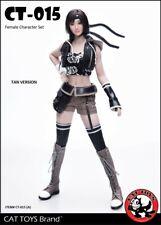 1/6th CAT TOYS CT015A Fighting Girl Head Sculpt&Tan Clothes Set Fit 12'' Figure