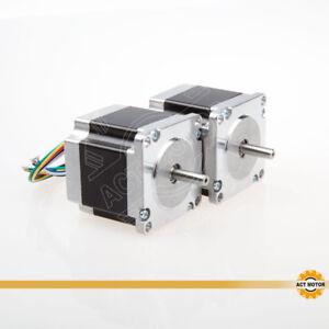DE Free 2PCS Nema23 Schrittmotor 23HS6620 6Leads 2A 56mm 180oz-in φ 6.35mm