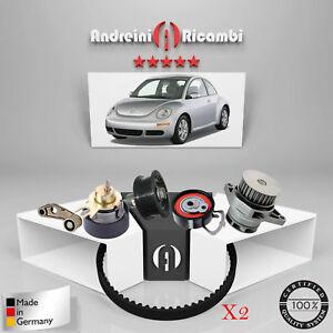 2 Timing Belt Kit+Water Pump Volkswagen New Beetle 1.4 55KW 75CV 2010 ->