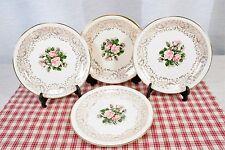 "LOT of 4 Georgian China TUDOR ROSE 6.25"" Bread & Butter Plates"