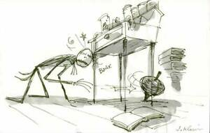 Nightmare Before Christmas Jack Skellington Signed Disney Storyboard 1993 bk