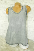 Italy New Collection Top Shirt grau Vintage Fransen Gr.36 38 40 42 blogger