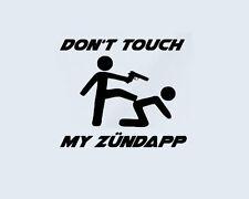 Don't Touch my ZÜNDAPP Mofa Motorrad Moped Roller Aufkleber Sticker Folie Logo
