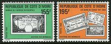 Ivory Coast 885-886, MI 1010-1011, MNH. History of Money: 1,2,5,25fr notes, 1990