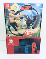 Nintendo Switch Console Neon Blue Red Joy-Cons & Ring Fit Adventure Bundle NEW