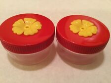 SET OF 2!  SINGLE PORT HAND HELD HUMMINGBIRD FEEDERS! 1 OUNCE  SO CUTE!