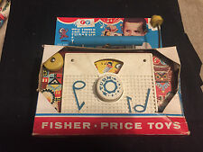 FISHER PRICE TEN LITTLE INDIANS TV RADIO IN THE BOX 1960'S TOY
