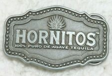 Hornitos Pure Agave Tequila Belt Buckle Silver Gray Metal Advertising Liquor