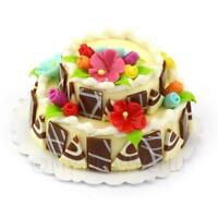 Dolls House Two Tier Marzipan Flower Cake