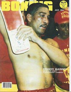 JULY 1994 BOXING WORLD MAGAZINE KENNEDY MCKINNEY SUPER BANTAMWEIGHT CHAMPION