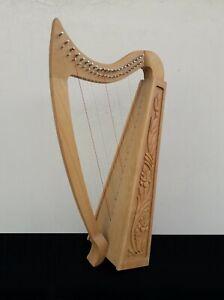 Gevon   22 Strings Ash wood Celtic Irish Harp, Carry bag & Book   Vogga H7
