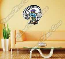 "Golf Player Club Ball Course Sport Wall Sticker Room Interior Decor 22""X22"""