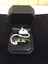 Synthetic Emerald In Sterling Size 7 1/2