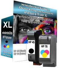 2x REFILL Tintenpatronen für HP 45+78 Farb Set XXL Jumbo - Drucker Pro Serie