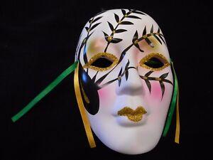 Ceramic Mardi Gras Mask Theater Carnival Wall Hanging