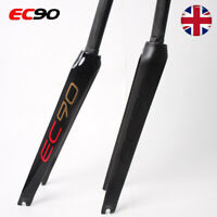 "700C EC90 Road Bicycle Rigid Fork 1-1/8"" Full Carbon Fiber C brake Bike Forks"