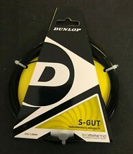 Dunlop S-Gut Premium Tennis Racquet String! 17 Gauge 1.22mm, 12m 40 feet Black