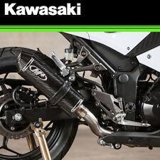 NEW 2013 - 2017 KAWASAKI NINJA 300 M4 CARBON FIBER FULL EXHAUST MUFFLER KA3024