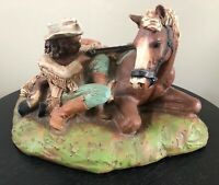 Vintage Universal Statuary 1981 Buffalo Bill Cody And Horse Figure #116