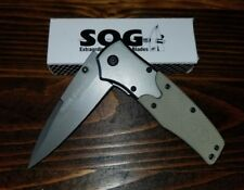 New SOG Tactical Flash Tanto Assisted Opening Titanium Tan Desert Pocket Knife