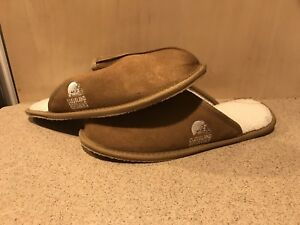 Cleveland Browns NFL Men's Tan Slide Slippers, Size Medium 9-10, New In Box