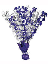 50th Birthday Party Foil Table Cascade Centrepiece Decoration Assorted Colours
