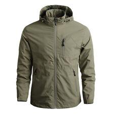 Men Hiking Jacket Ski Waterproof Coat Hooded Snow Jackets Lightweight Outwear