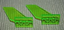 2 ~ 2x6x4 Green Translucent Airplane Tail Support or Wing Panels ~ Lego ~ NEW ~