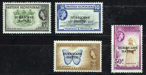 BRITISH HONDURAS 1962 RELIEF FUND SG198/201  MNH