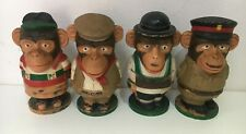 More details for 70s complt collection x4 pg tips chimps monkeys egg cup set figures england aa11