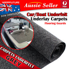 Grey Gray Boat Carpet Recovery Marine Yacht Floor Non Slip Cover 2Mx1.2M 26Sqft