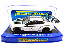 Scalextric Bentley Continental GT3 DPR W/ Lights 1/32 Scale Slot Car C3514
