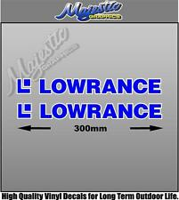 LOWRANCE - 300mm x 40mm X 2  - BOAT DECALS