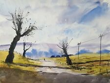 Morning Stroll 15x11in Watercolour Painting by Steven Cronin Original Signed Art