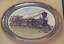 Belt Buckle Barlow Photo Color Reproduction of Train Steam Engine 592414c