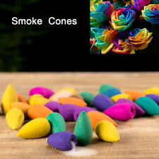 50pcs Smoke Cones Bullet Buddhism Back Flow Tower Incense Burner Holder Cone