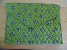 Vera Bradley Document Holder Portfolio Envelope in Bandana Bright Kiwi