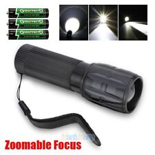Tactical 10000LM 3 Modes LED 18650 Flashlight Zoomable Focus Torch Lamp