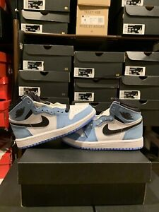 Jordan 1 High OG University Blue UNC PS Pre School AQ2664-134 Many Sizes