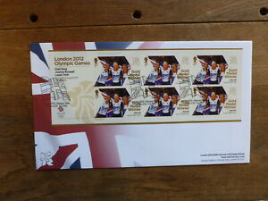 GREAT BRITAIN LONDON 2012 GOLD MEDAL MINI SHEET FDC-WOMENS TEAM PERSUIT, CYCLING