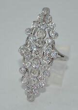 Art Deco 14K Old Mine and Old European Cut Diamond Ring 2CT +