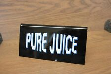 Vintage Surf Shop Sign - PURE JUICE - acrylic tent - counter top sign - 1990's